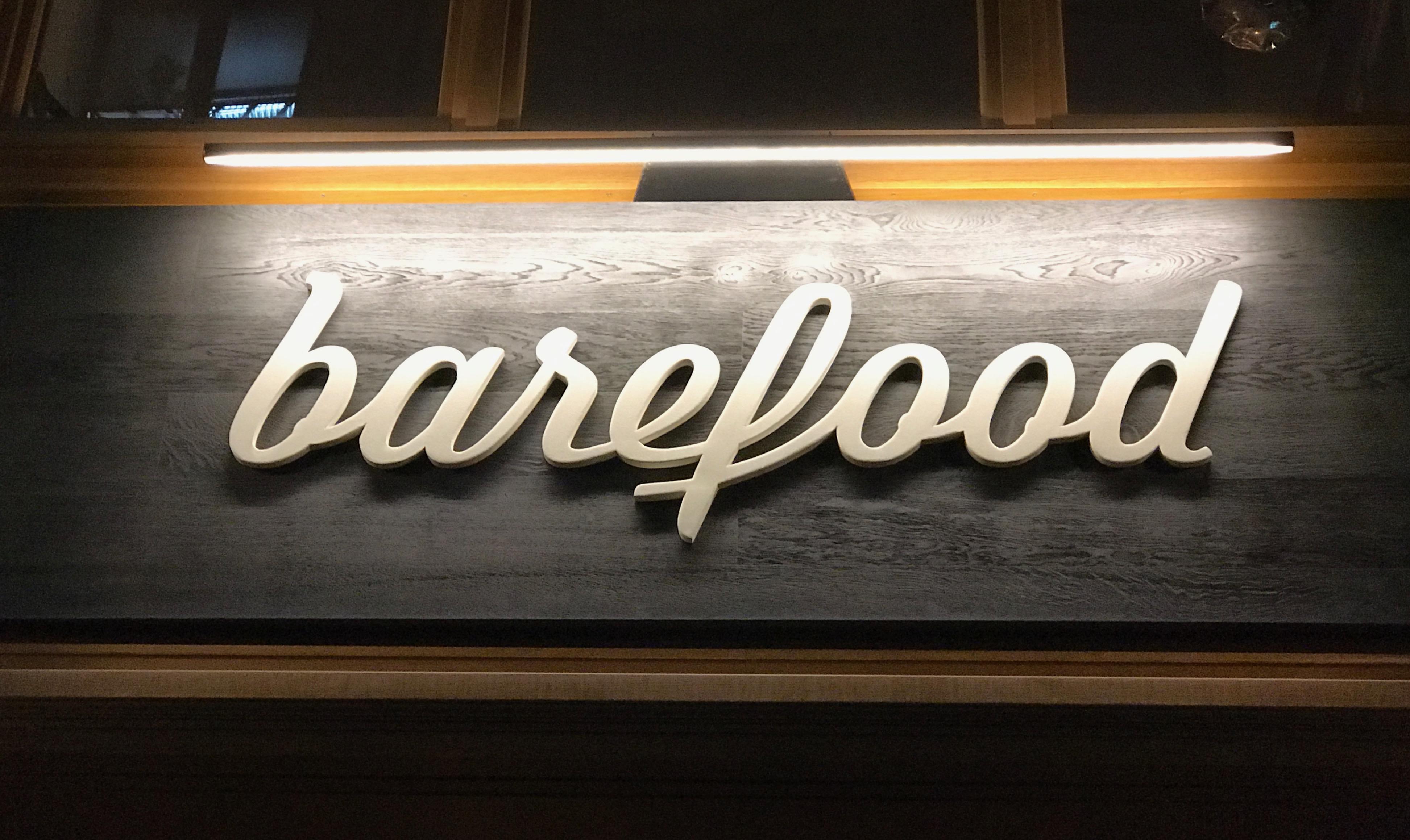 Barefood: Schriftzug