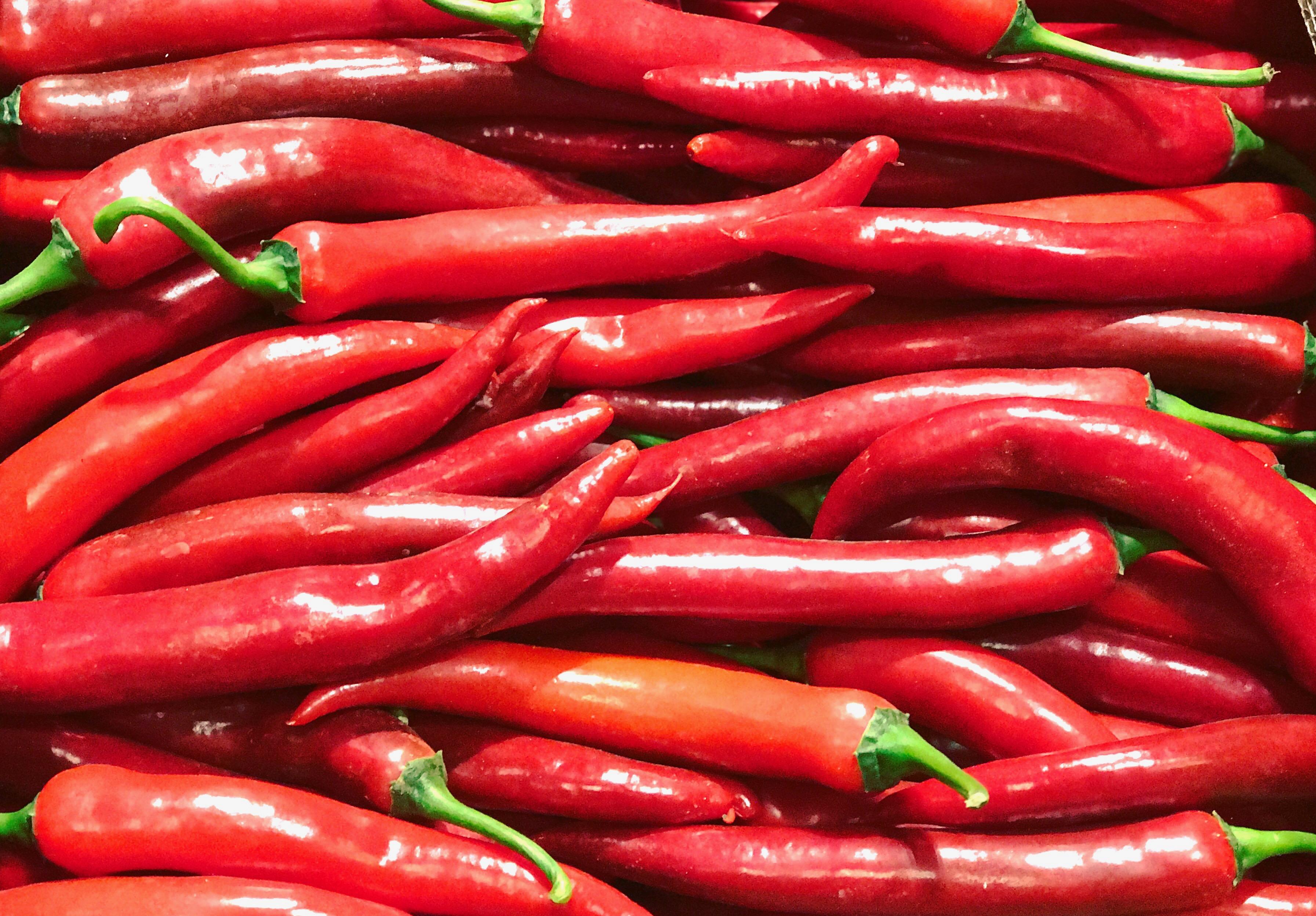 Chilischoten auf Großmarkt