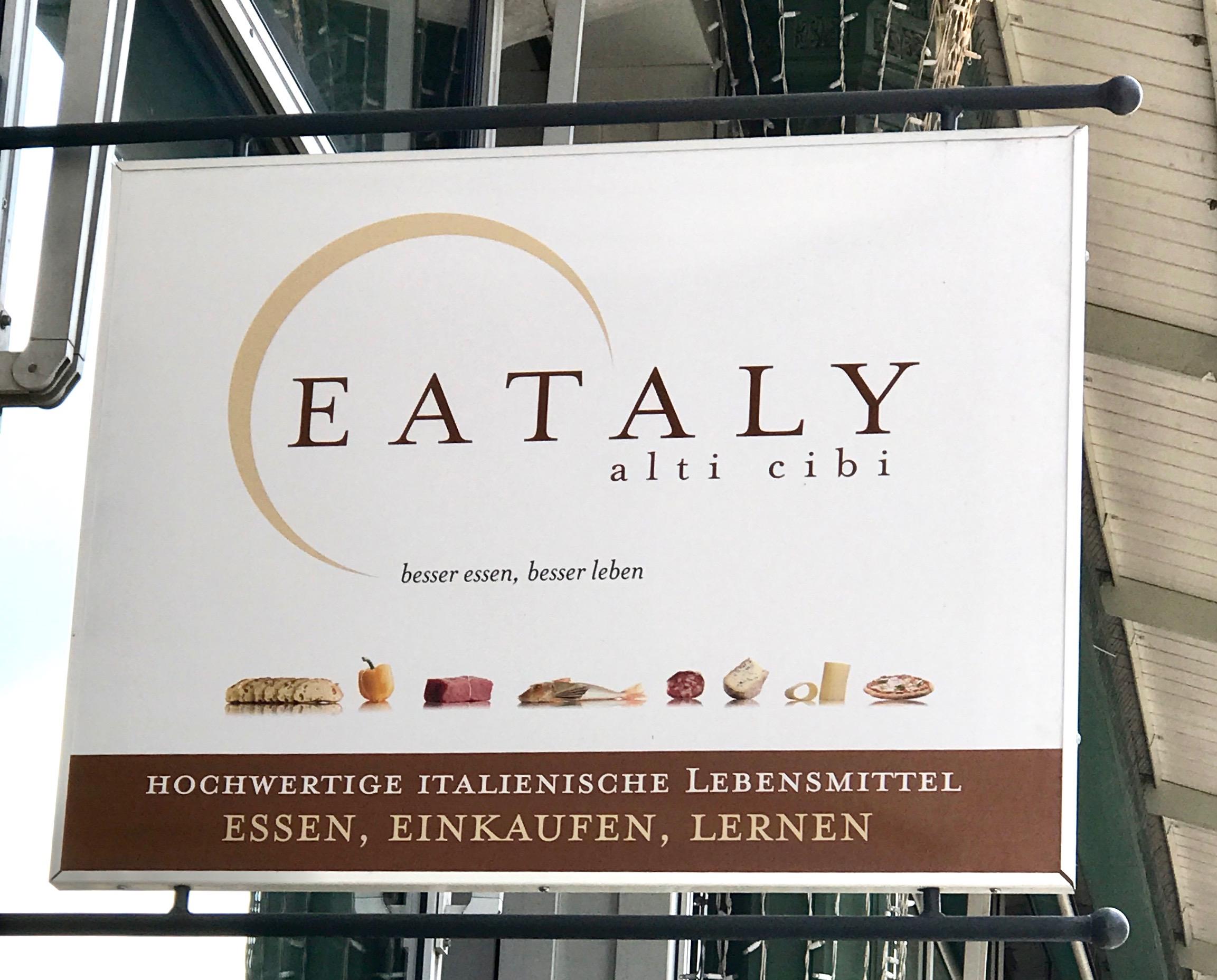Eataly Schild