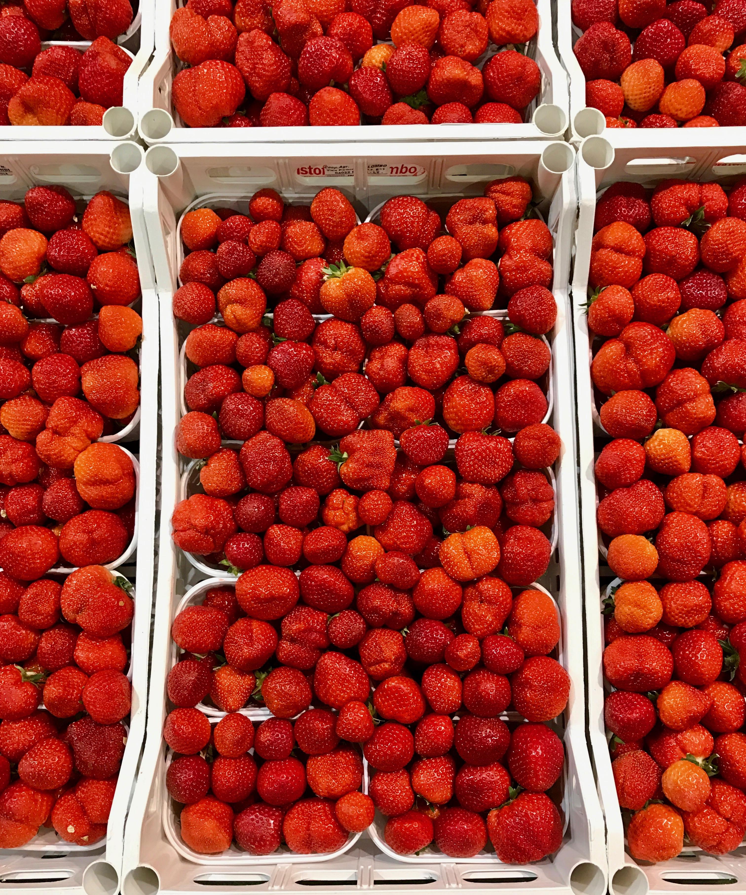 Erdbeeren auf Großmarkt